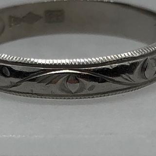 カービングが施された指輪のサイズ直し After